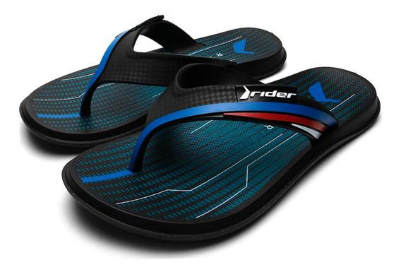 Chinelo Rider R Line Ii Ad Masculino - Azul E Preto