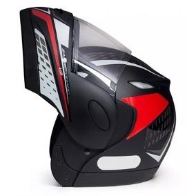 Capacete Taurus Zaref V3 Articulado Grafic Preto/vermelho 56