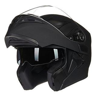 Ilm Motorcycle Dual Visor Flip Up Modular Full Face Casco Do
