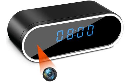 Reloj Despertador Cámara Oculta 1080 Wifi Detecta Movimiento