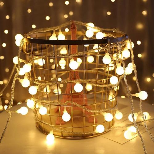 Serie Led Luces Globo 7.5m 50led Usb Navidad Decorativas Luz