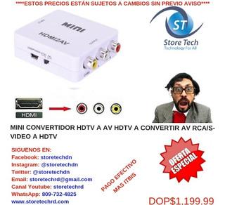 Mini Convertidor Hdtv A Av Hdtv A Convertir Av Rca/s-video A