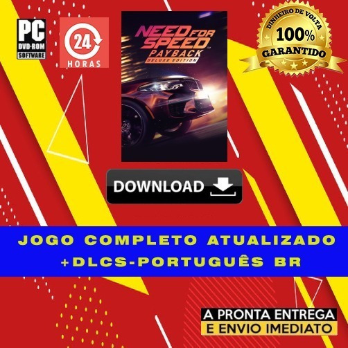 Need For Speed Payback Deluxe Edition - Pc + Brinde - Pt-br