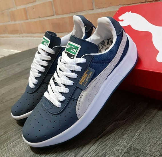 Zapato Puma California - Tenis para Hombre Azul oscuro en ...