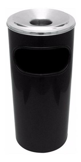Cinzeiro Coletor De Bitucas Plastico Com Aro Em Aluminio C6