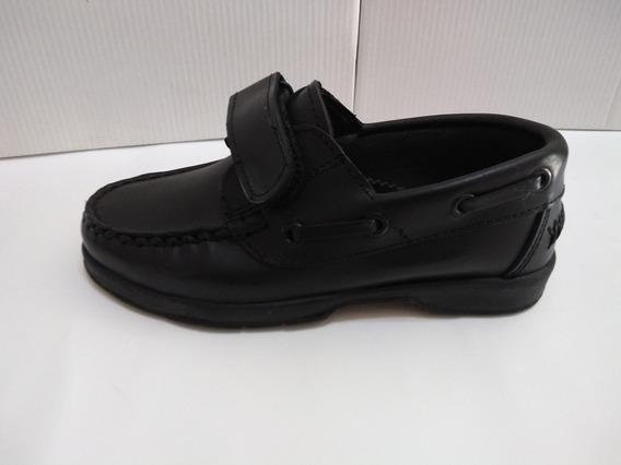 Zapato Colegial Realizado En Cuero