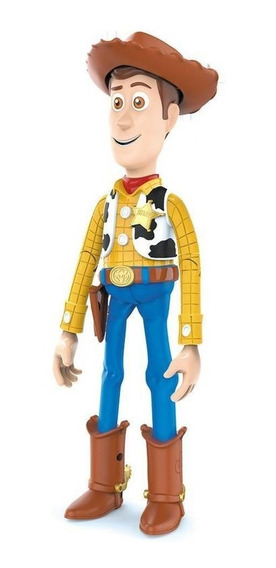 Boneco Articulado Woody Com Sons 28cm Toy Story 4 Toyng