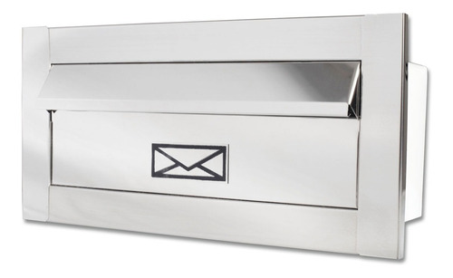 Caixa De Correio Frente Inox Branca Preta Carta