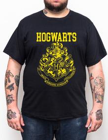 Camiseta Hogwarts - Harrypotter - Plus Size - Tamanho Grande