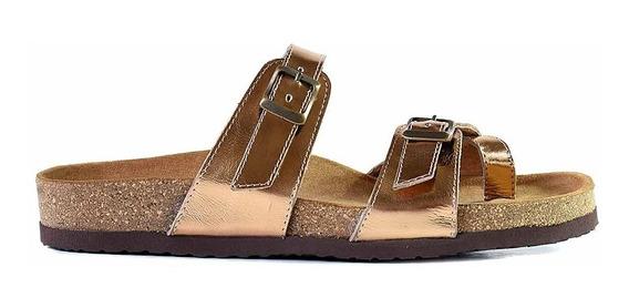 Chinela Mujer Cuero Sandalia Briganti Zapato Mcch02772 01