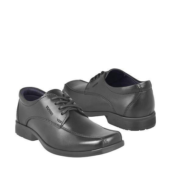 Zapato Escolar Para Niño Yuyin 29561 Negro
