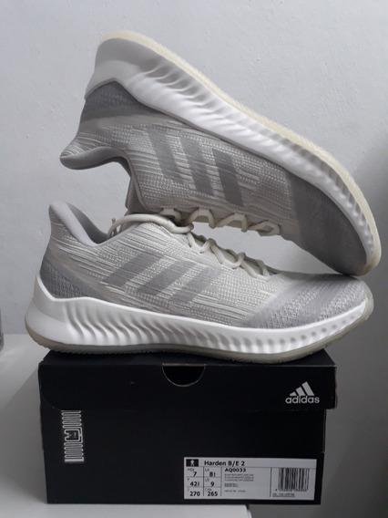 Tenis adidas James Harden B/e 2 Blanco Y Gris Talla 27cm-7mx