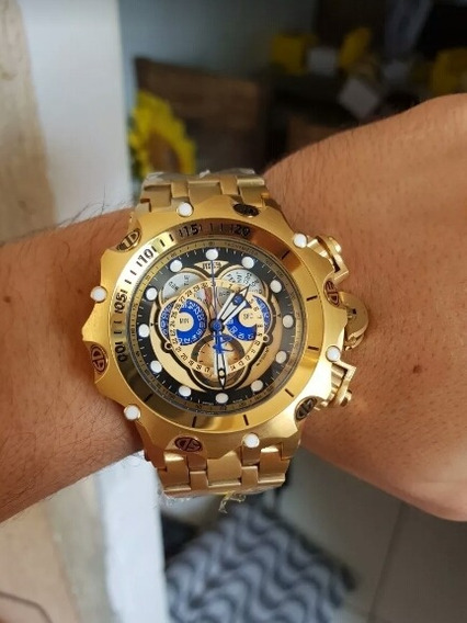 Relógio Invicta Venom 16804, Banhado A Ouro, 100mts