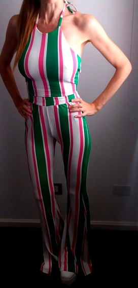 Conjunto Pantalon Y Top Oxford Rayado Dos Modelos