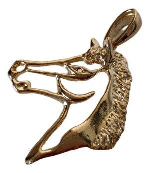 Pingente Cavalo Berloque Country Lindo Folheado A Ouro 18k
