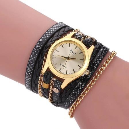 10 Relógios Femininos Vintages Bracelete Atacado Kit Revenda