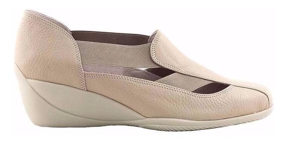 Zapatilla Zapato Cuero Mujer Briganti Base Goma - Mczp05209
