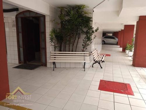 Imagem 1 de 17 de Apartamento Com 1 Dormitório À Venda, 44 M² Por R$ 165.000,00 - Canto Do Forte - Praia Grande/sp - Ap2109