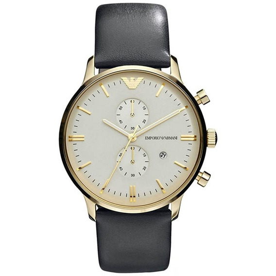 Reloj Análogo Marca Armani Modelo: Ar0386 Color Oro / Negro