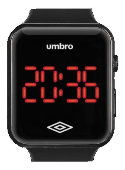 Relógio Umbro Masculino Ref: Umb-led-b Digital Led Black