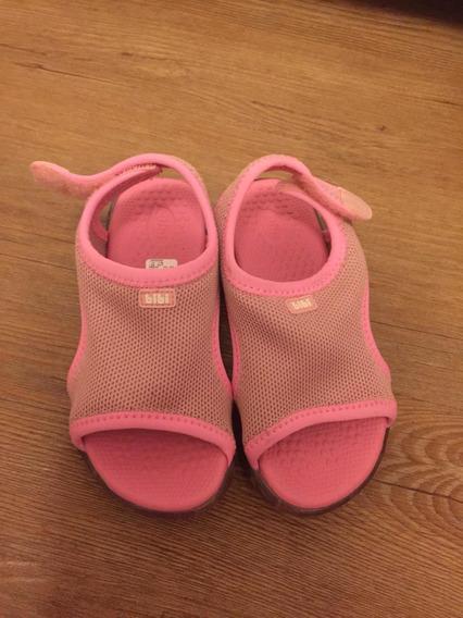 Sandália Led Rosa Bibi Tamanho 27 Velcro