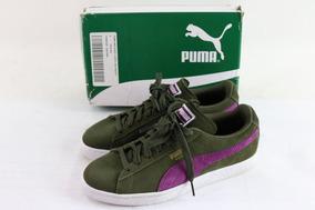Tenis Puma Suede Classic Verde Oliva Y Purpura