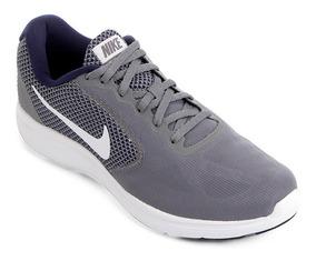 Tênis Nike Revolution 3 Cinza E Azul