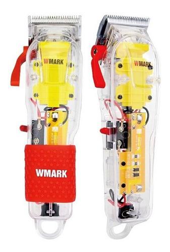 Imagem 1 de 6 de Máquina De Cortar Cabelo Wmark Ng-108 Elétrica Transparente