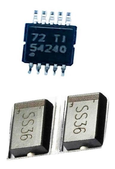 Kit 4 Diodo Ss36 - Sk36 + 8 Tps54240 Smd