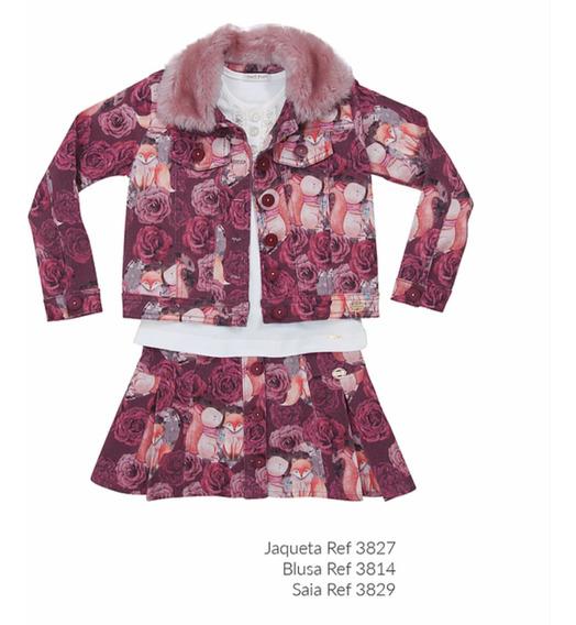 Jaqueta Estampada De Veludo