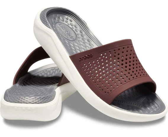 Literide Slide Burgundy-white