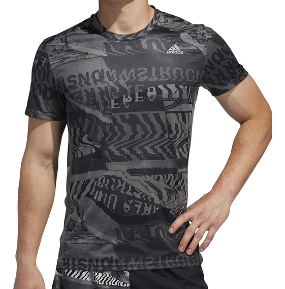 Remera adidas Running Own The Run Hombre Go/gr