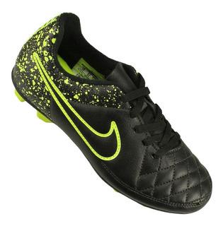 Chuteira Nike Campo Tiempo Rio 2 Preto/verde 6591