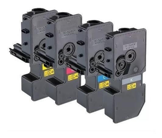 Kit 4 Toner Comp Kyocera Tk5242 Tk-5242 K M C Y M5526 P5026