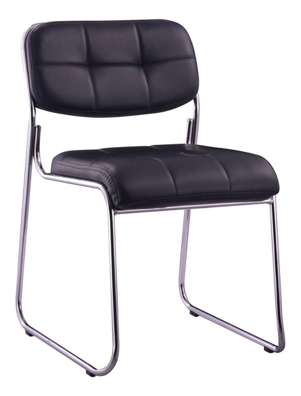 Cadeira Base Fixa Bruxelas Preta