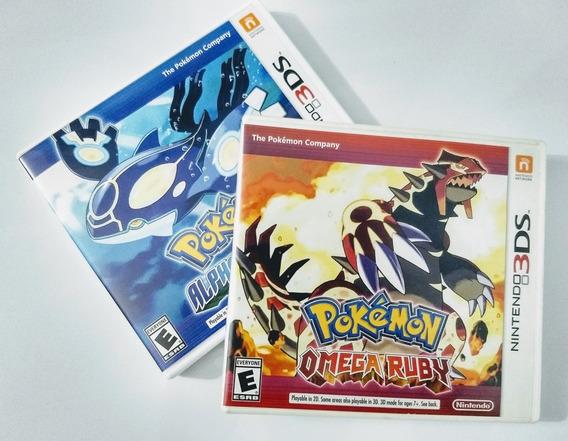 Pokemon Omega Ruby + Alpha Sapphire 3ds / Usados Impecáveis