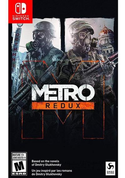 Metro Redux Switch Mídia Física Novo Original Lacrado
