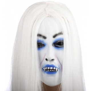 Máscara Látex Vampira Realista Fantasia Carnaval Halloween