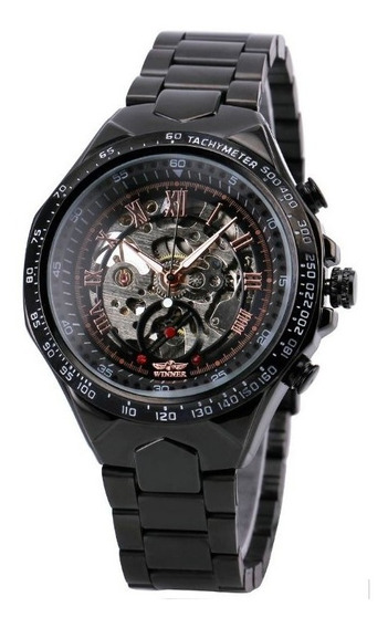 Relógio Masculino Winner Automático Esqueleto Pulso Cód.039