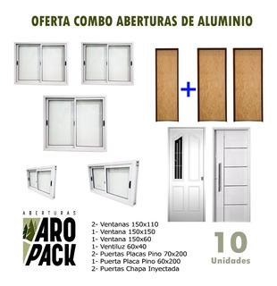 Combo Aberturas De Aluminio Ventanas Y Puertas Oferta