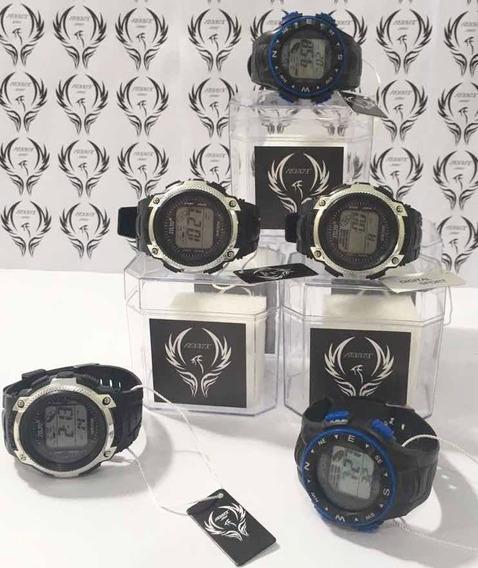 Kit Com 05 Relógios Originais Digitais Masculinos Atacado