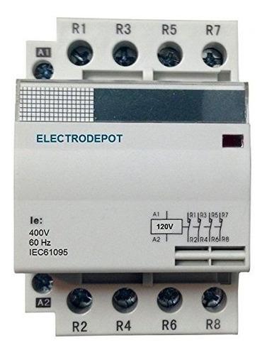 Imagen 1 de 4 de Migro 30 Amp Contactor 4 Pole, 110v 120v