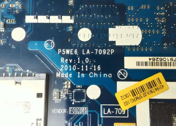 Placa Mae De Notebook Acer Aspire P5we6 La-7092p Ddr3
