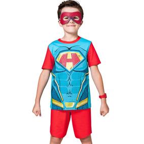 Pijama Curto Kids - Herói Vermelho