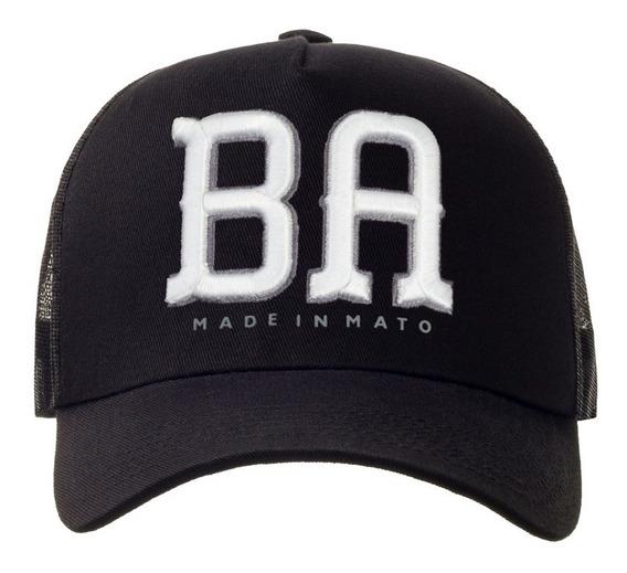 Boné Made In Mato + 2 Brindes Original Lançamento Estado Bahia Ba Aba Curva Do Galo B1540
