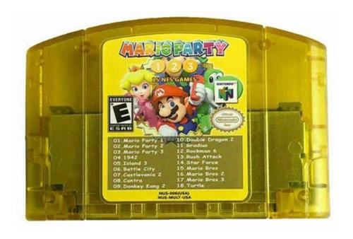 Imagem 1 de 1 de Mario Party 1, 2 E 3 Nintendo 64 + 15 Jogos Snes 18 Em 1