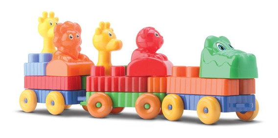Trenzinho Lego Para Montar, Brinquedo Infantil Educativo