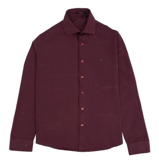 Camisa Manga Larga Puntos Hombre | Bravo Jeans (28515)