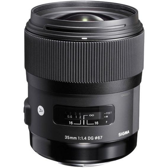 Lente Sigma 35mm F/1.4 Dg Hsm Para Nikon - Loja Platinum