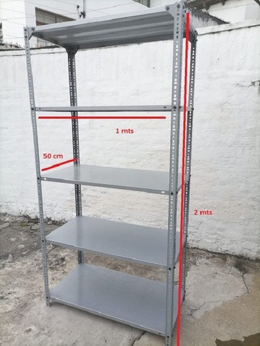 Imagen 1 de 2 de Estanteria Estante Mueble Metalico Industrial Repisa Usada